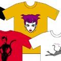 """""""Vampire"""" ポストカード・Tシャツ・下着セット"""